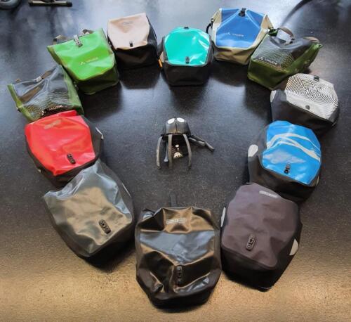 50€ Gepäckträgertaschen, gebraucht
